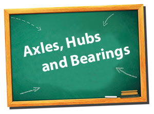 pontoon trailers - Axles Bearings and Hibs