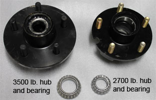 pontoon trailer hub and bearing