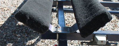 welded pontoon trailer bunk bracket