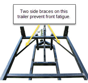 pontoon trailer bracing